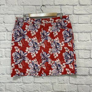 Tommy Bahama Relax 10 Skirt 100% Linen Mini Hawaii